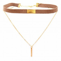Brown Minimalist Choker