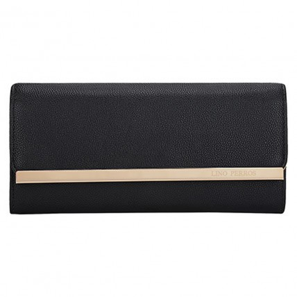 Black Lino Perros Women Clutch