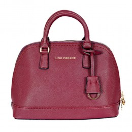 Lino Perros Bright Satchel Handbag Red