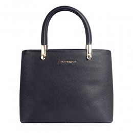 Lino Perros Simple Black Satchel Handbag