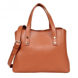 Lino Perros Brown Satchel Handbag