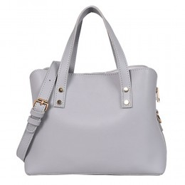 Lino Perros Beautiful Grey Satchel Handbag