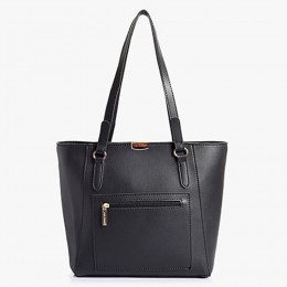 Lino Perros Black Daily Use Tote Handbag