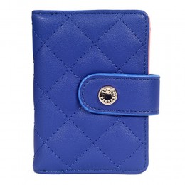 Lino Perros Small Stitched Blue Wallet
