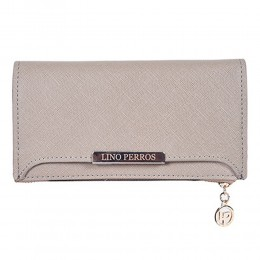 Lino Perros Grey Zip Closure Wallet