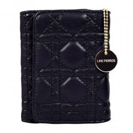 Lino Perros Black Small Stitched Wallet