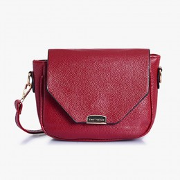 Lino Perros Leatherette Red Sling Bag