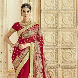 Red Wedding Collection Saree