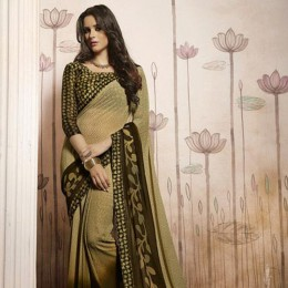 Beige Printed Casual Wear Saree