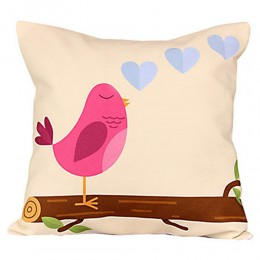 Pretty Pink Bird Cushion
