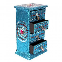 Blue 4 in 1 Mini Drawer of 10 Inch