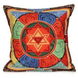 Beautiful Thangka Print Cushion