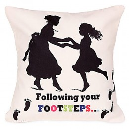 Following Footsteps Cushion