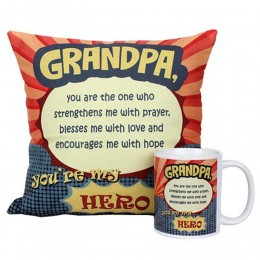 Mug and Cushion For Grandpa