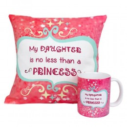 Princess Daughter Cushion and Mug