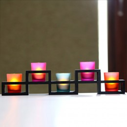 5 Colorful Candle Holders