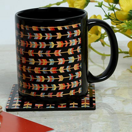 Designer Printed Mug With Coaster