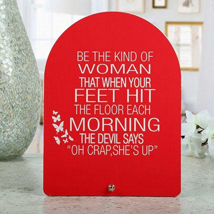 Red Womens Day Table Top