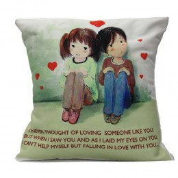 Cute Couple With Cushion Comfort