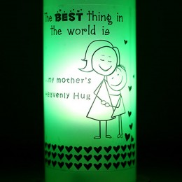 Mothers Hug Bottle Lamp