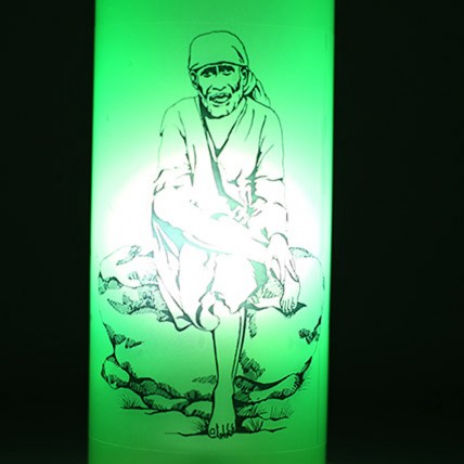 Sai Baba Bottle Lamp