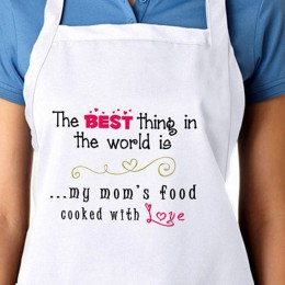 Apron For My Moms Food With Love