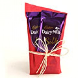 2 Cadbury Dairy Milk Silk with gift wraping