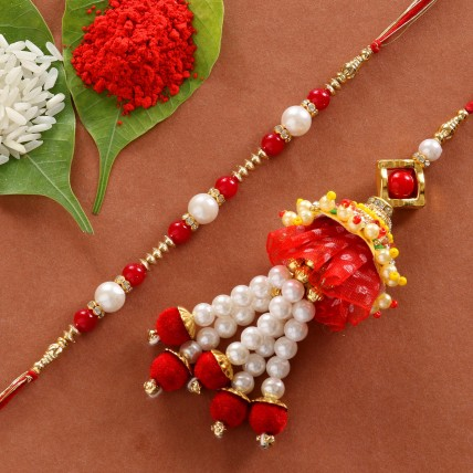 Elegant Royal Lumba Rakhi Set