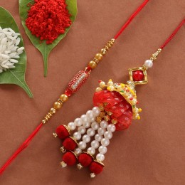 Beautiful Lumba Capsule Rakhi Set