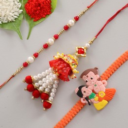 Set of 3 Cool Cartoon Fancy Rakhis