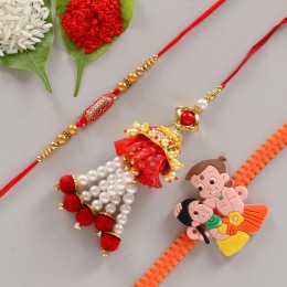 Glorious Colorful Rakhi Set of 3