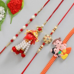 Set of 4 Classy Cartoon Rakhis
