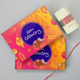 Meenakari Rakhi & 2 Cadbury Celebrations