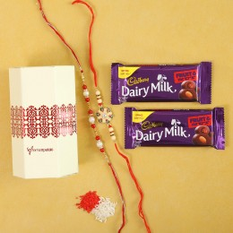 Fruit N Nut With Designer Rakhi Combo