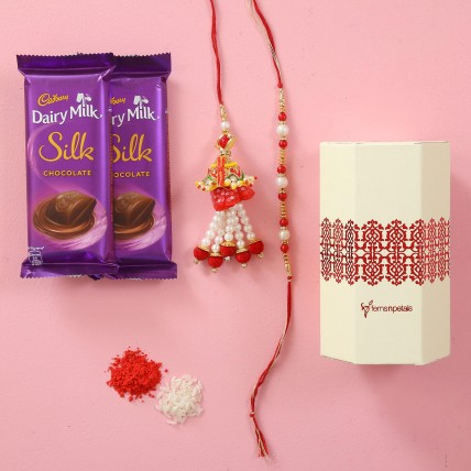 Silk Chocolate & Lumba Rakhi Combo