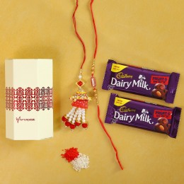 Fruit N Nut With Gorgeous Rakhi Combo