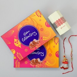 Two Celebrations Boxes With Lumba Rakhi Set of 2