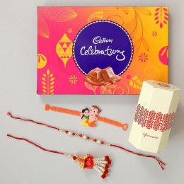 Celebrations Chocolates With Family Rakhi Set