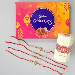 Celebrations Chocolate Box & 4 Rakhis