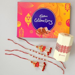 4 Rakhis & Celebrations Chocolate Box
