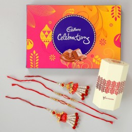 Set of 2 Lumba Rakhi Celebration Combo