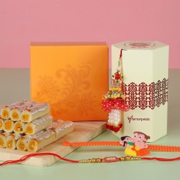 Rakhi Set Of 3 Kaju Rolls