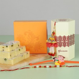 Rakhi Set Of 3 Pista Burfi