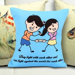 Sibling Fight Cushion