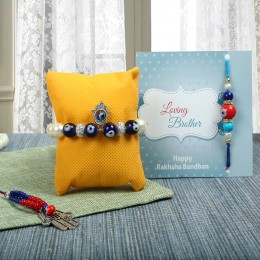 Evil Eye Lumba rakhi Set