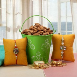 Almond Rakhi Bucket