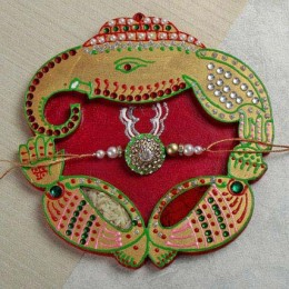Crafted Rakhi Thali