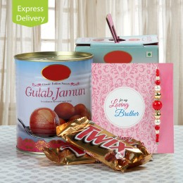 Chocolate And Gulab Jamun Love-Rakhi