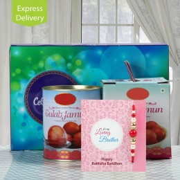 Celebration with Gulab Jamun-Rakhi