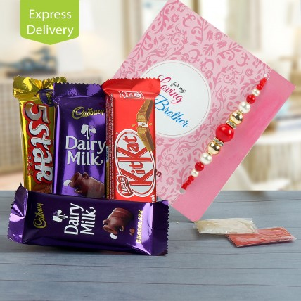 Rakhi Chocolaty Wishes Combo